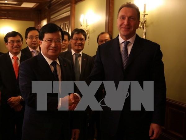 越南政府副总理郑廷勇访问俄罗斯 同俄第一副总理伊戈尔•舒瓦洛夫举行会谈 hinh anh 1