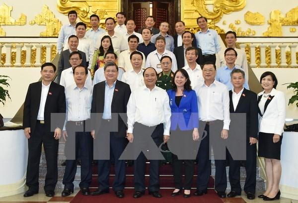 阮春福总理:安江省充分利用内河交通的优势 注重经济结构调整 hinh anh 1