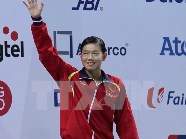 第十届亚洲游泳锦标赛:越南游泳选手阮氏映圆摘一金三铜 hinh anh 1