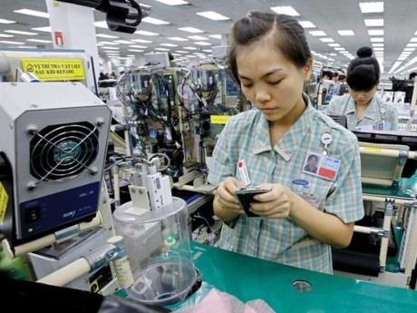 今年前8个月越南手机出口额达逾200亿美元 hinh anh 1
