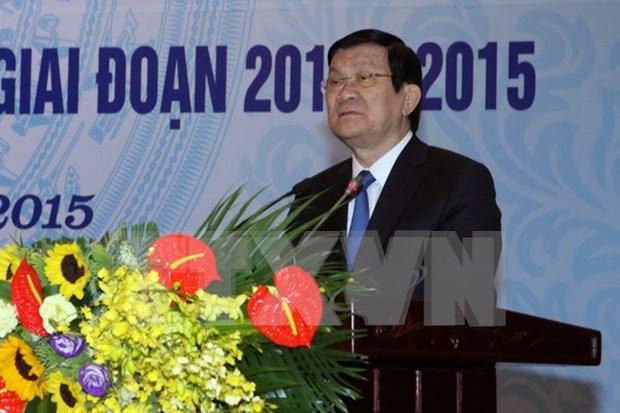 越南全国模范乡、坊、镇祖国阵线主席获得表彰 hinh anh 1