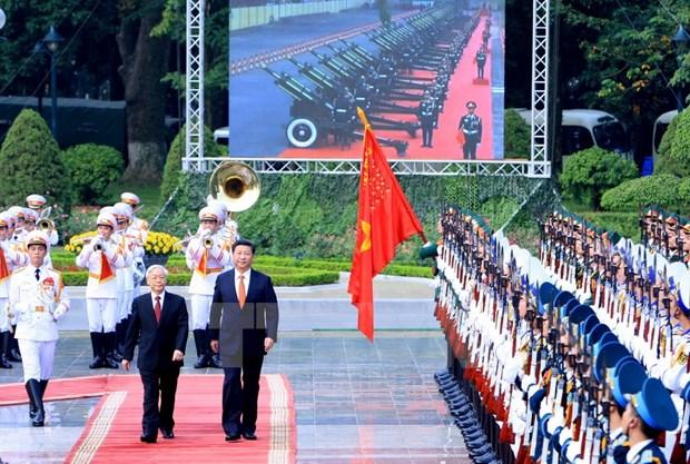 中 共中央总书记、中国国家主席习近平对越南的国事访问圆满结束 hinh anh 1