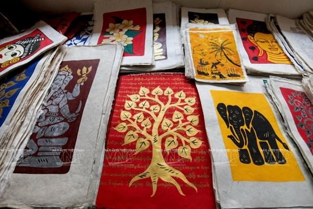 老挝琅勃拉邦的纱纸 hinh anh 3