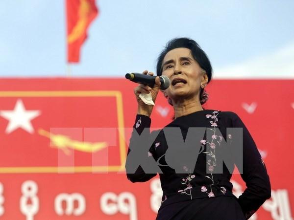 缅甸选举:反对党民盟赢得77.3%选票 hinh anh 1