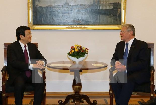 越南国家主席张晋创与德国总统约阿希姆·高克举行会谈 hinh anh 2