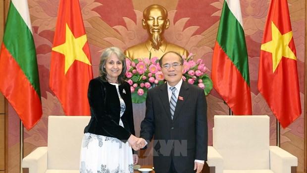 越南国会主席阮生雄会见保加利亚副总统马尔加里塔•波波娃 hinh anh 1