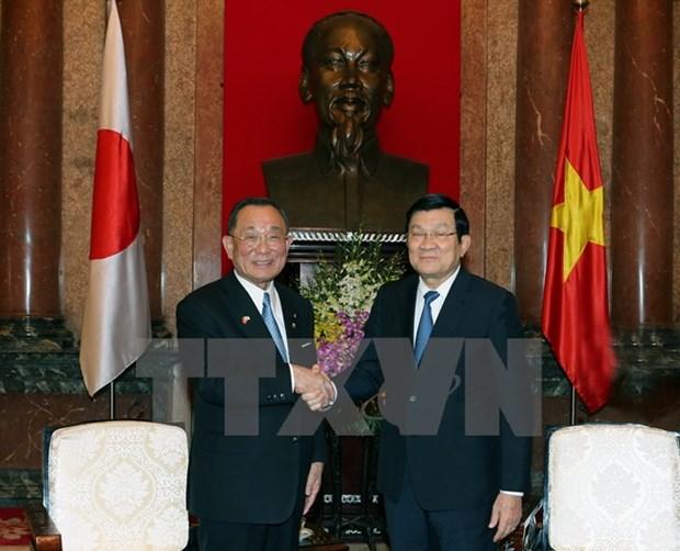 越南国家主席张晋创会见日本参议院议长山崎正昭 hinh anh 1