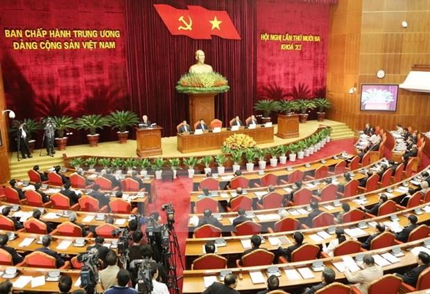 越共第十一届中央委员会第十三次全体会议第一天新闻公报 hinh anh 1