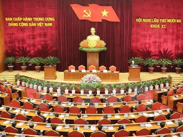 越共十一届中央委员会第十三次全体会议落下帷幕 hinh anh 1