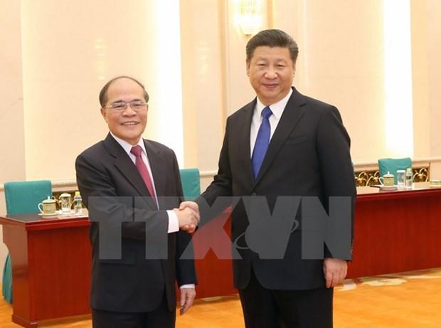 越南国会主席阮生雄会见中共中央总书记、中国国家主席习近平 hinh anh 1