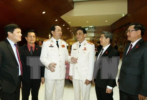 越共十二大:与会代表对反腐斗争工作建言献策 hinh anh 1