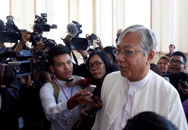 越南国家领导人致电祝贺廷觉当选缅甸联邦共和国总统 hinh anh 1