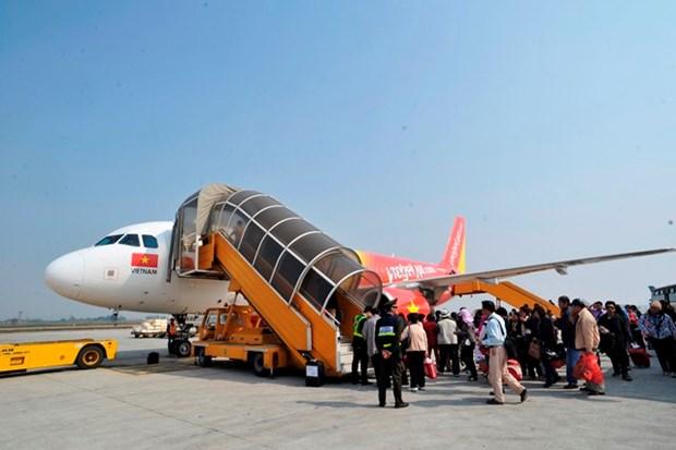 越捷航空公司开通河内市飞往富安省绥和市航线 hinh anh 1
