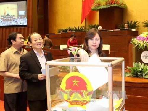 国会批准国家选举委员会和国防安全委员会副主席和委员的职务 hinh anh 1