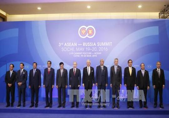 阮春福总理会见出席俄罗东盟峰会的东盟各国领导人 hinh anh 1