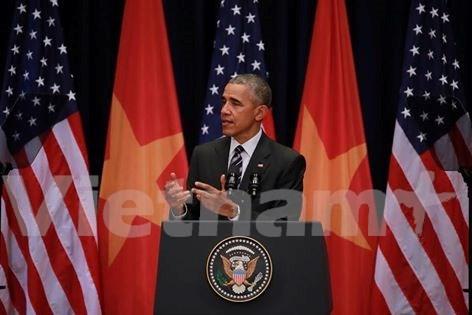 美国总统奥巴马:为美越关系奠定稳固基础 hinh anh 1