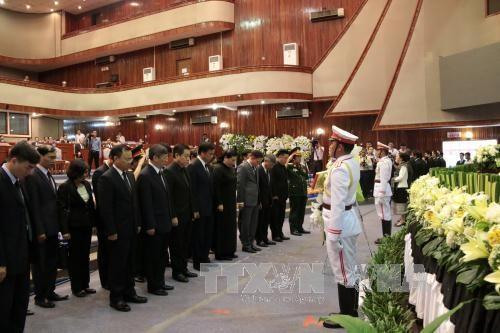 越南党、国家高级代表团出席沙曼·维亚吉同志追悼会 hinh anh 1