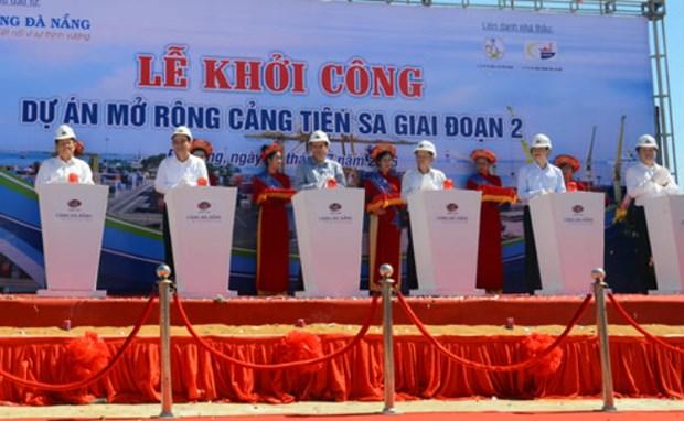 岘港市仙沙港扩建项目二期工程动工兴建 hinh anh 1