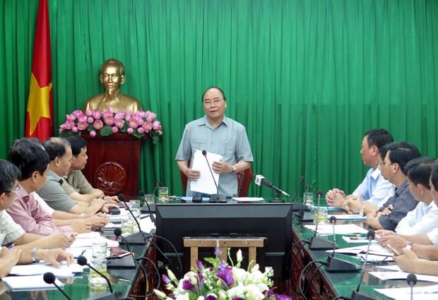 阮春福总理:台风过后南定省应齐心协力恢复生产 hinh anh 1