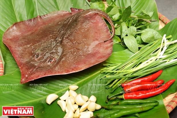岘港市的特产:青椒烤鳐鱼 hinh anh 1