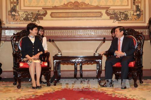 中国香港希望与胡志明市促进投资合作 hinh anh 1