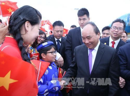 第十三届中国东盟博览会:阮春福总理出席越南展区开展仪式 hinh anh 1