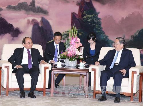 阮春福总理会见中国全国政协主席俞正声 hinh anh 1