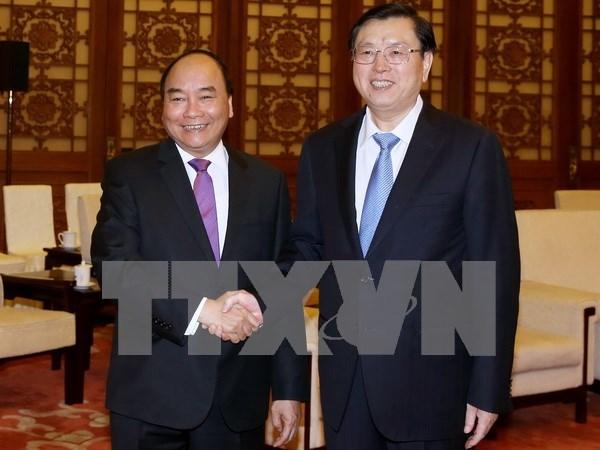 阮春福总理会见中国全国人大常委会委员长张德江 hinh anh 1