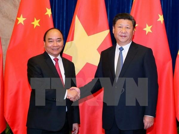 阮春福总理会见中共中央总书记、国家主席习近平 hinh anh 1