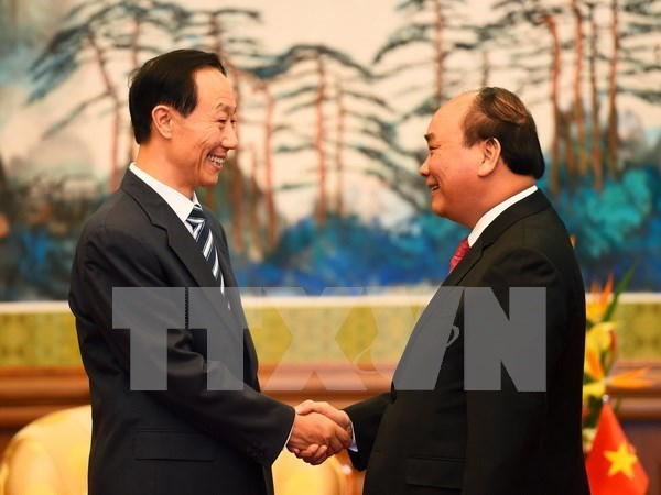 阮春福总理会见中共中央总书记、国家主席习近平 hinh anh 2