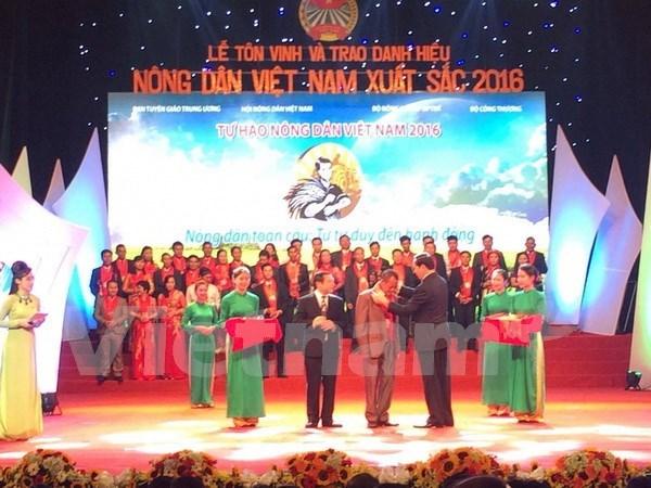 陈大光主席出席2016年越南优秀农民表彰会 hinh anh 1