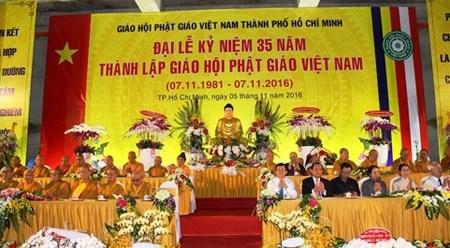 越南佛教协会成立35周年纪念仪式在胡志明市举行 hinh anh 1