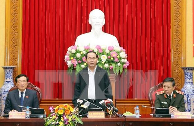 国家主席陈大光:着重发现经济和贪腐案件 hinh anh 1