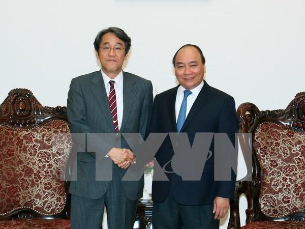 阮春福总理会见日本新任驻越大使梅田邦夫 hinh anh 1