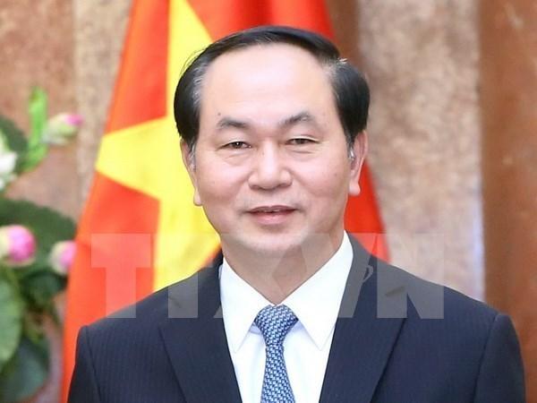 越南国家主席陈大光和夫人对古巴进行正式访问 hinh anh 1
