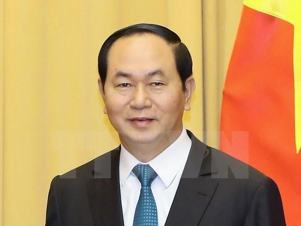 越南国家主席陈大光即将对意大利共和国进行国事访问 hinh anh 1