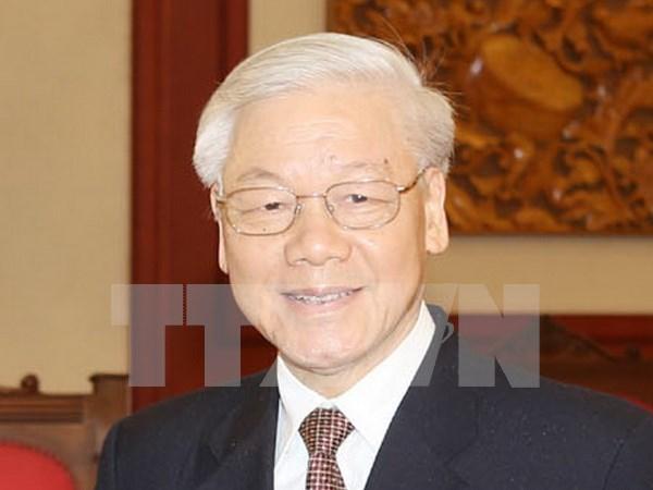 越共中央总书记阮富仲即将对老挝进行正式友好访问 hinh anh 1