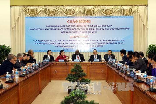 胡志明市领导会见古巴全国人民政权代表大会主席埃斯特万 hinh anh 2