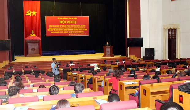莱州省举行2018年对外信息工作培训会议 hinh anh 1