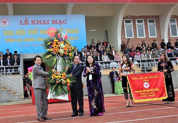 中国云南省西双版纳州体育代表团参加第4届莱州省体育运动会 hinh anh 2