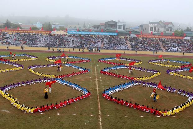 中国云南省西双版纳州体育代表团参加第4届莱州省体育运动会 hinh anh 5