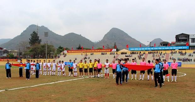 中国云南省西双版纳州体育代表团参加莱州省体育运动会有助于增进两省睦邻友好 hinh anh 3