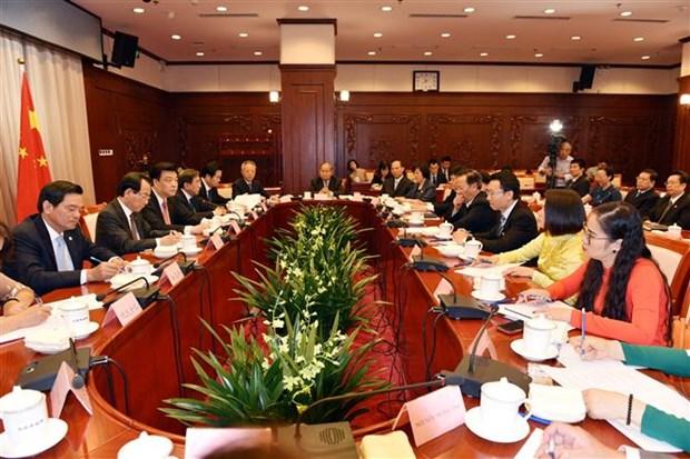 河内市祖国阵线代表团对中国进行工作访问 hinh anh 1