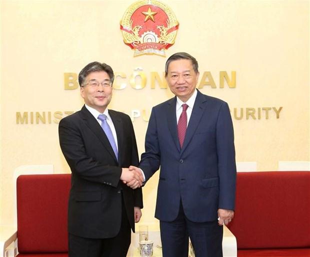 越南与韩国加强打击犯罪领域的合作 hinh anh 1