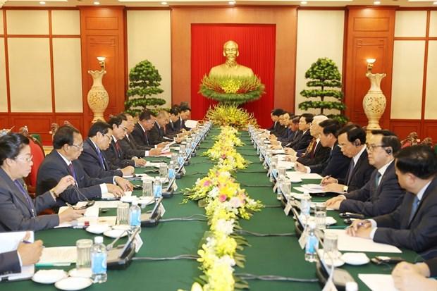 老挝人民革命党中央总书记、国家主席本扬·沃拉吉访问越南 hinh anh 1