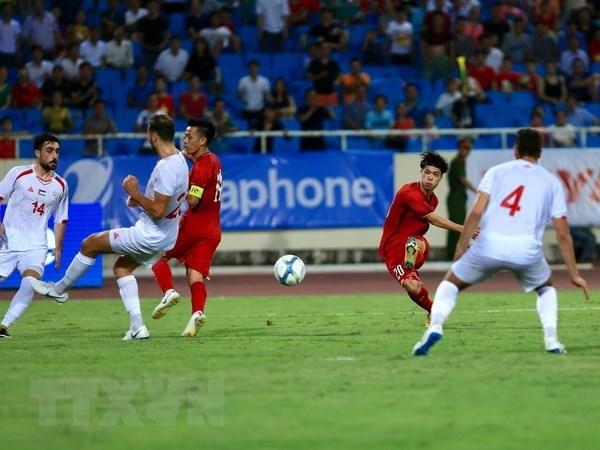 2018年VinaPhone杯U23国际足球锦标赛:越南队获得首场胜利 hinh anh 1