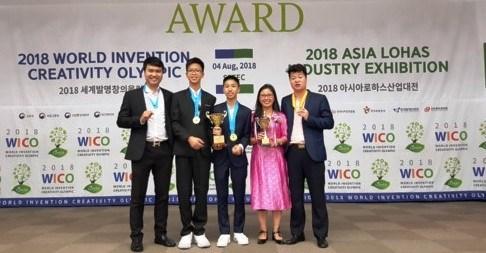越南学生在2018年世界发明创意竞赛赢得3枚金牌 hinh anh 1