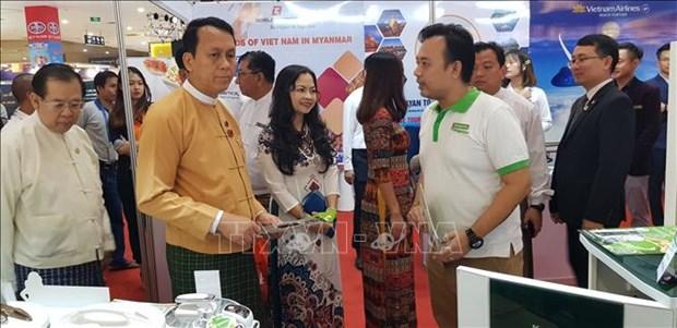 越南品牌展览会在缅甸开展 hinh anh 1