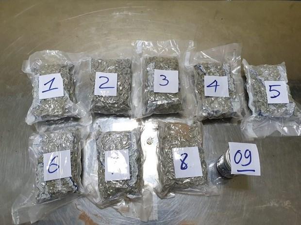 新山一国际机场口岸海关分局查获藏有2.3公斤毒品的一批货 hinh anh 1