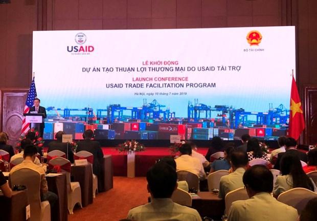 由美国资助的贸易便利化计划项目正式启动 hinh anh 1